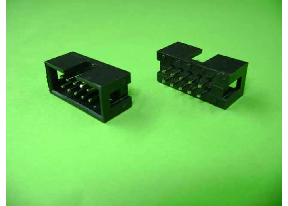 PCB IDC Socket Box Header Straight  Angle Male 2.54mm 10P