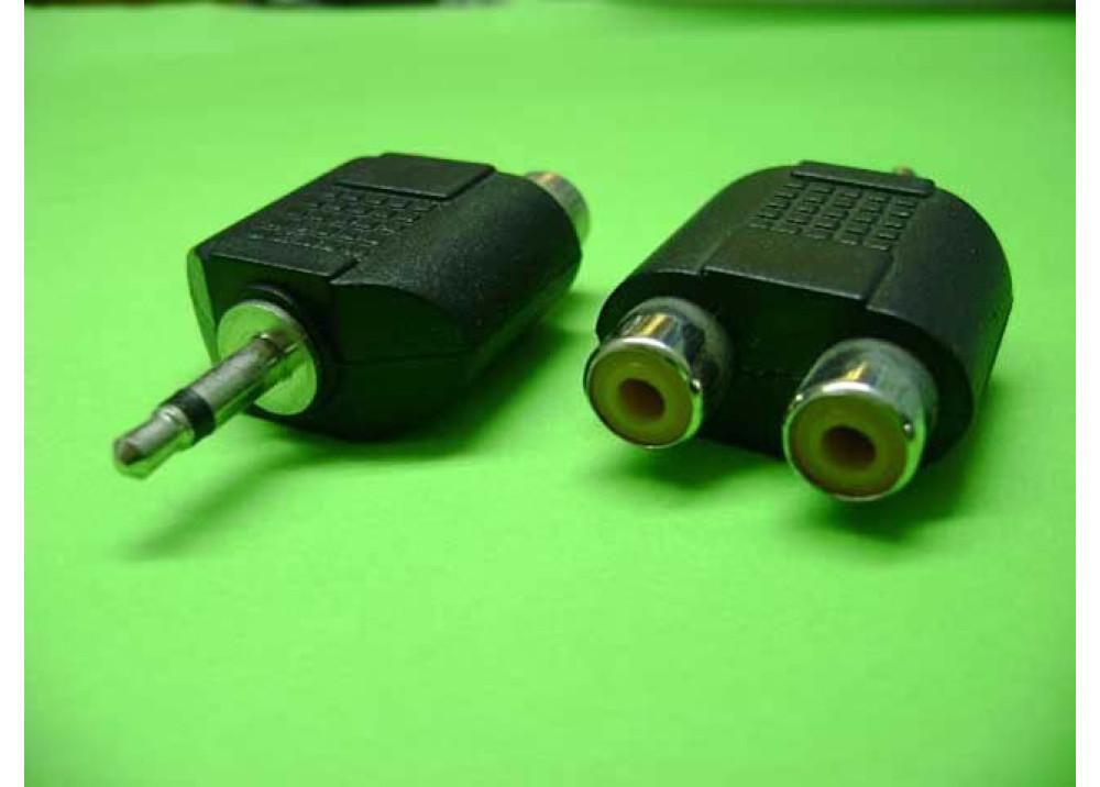 Splitter 1Male mono to 2 female RCA