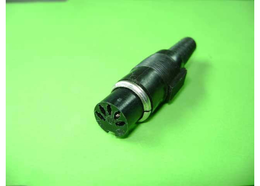 DIN Female Solder Connector  Wire To Wire