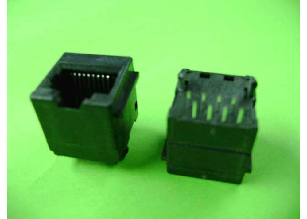 JK Connector RJ45 Plastic Straight Angle 10P