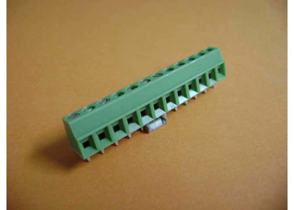 PCB Screw Terminal Blocks 3.81mm 12P Rising Clamp type 8.5Height green PHOENIX Part number: MKDS1/12-3.81