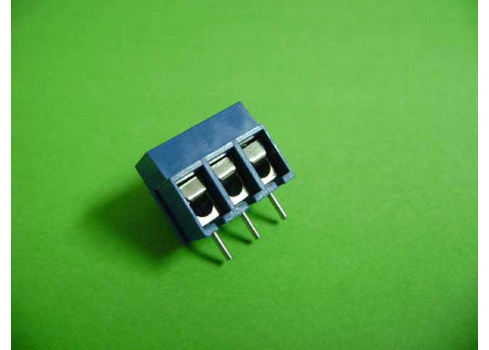 PCB Screw Terminal Blocks 5mm 3P wire protector type 12.5Height blue KEFA Part number: KF300-5.0
