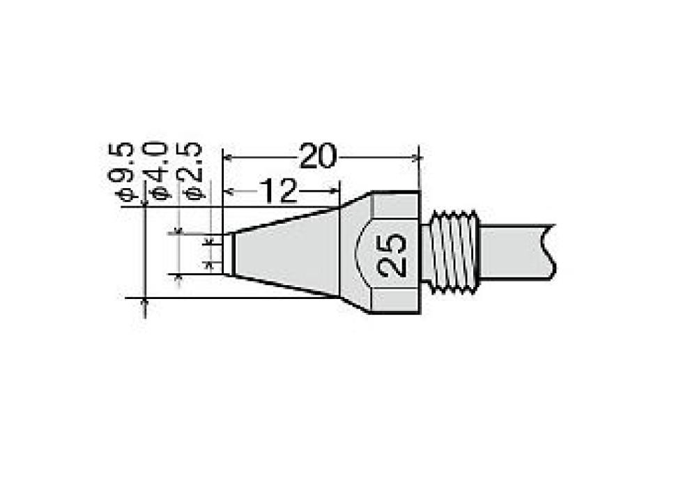 GOOT NOZZLE TP-100N-25 TP100 TP200 - 2.5mm