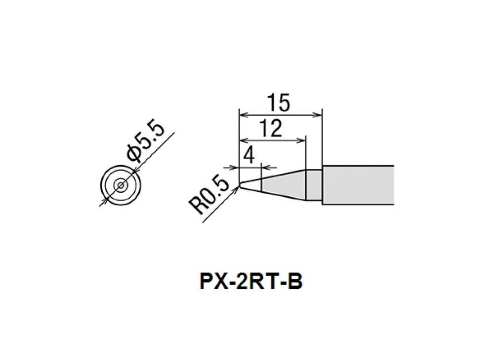 GOOT Soldering Iron Tip PX-2RT-B 0.5mm