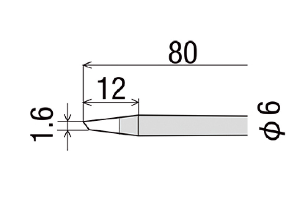 GOOT TIP R-6BC 60W
