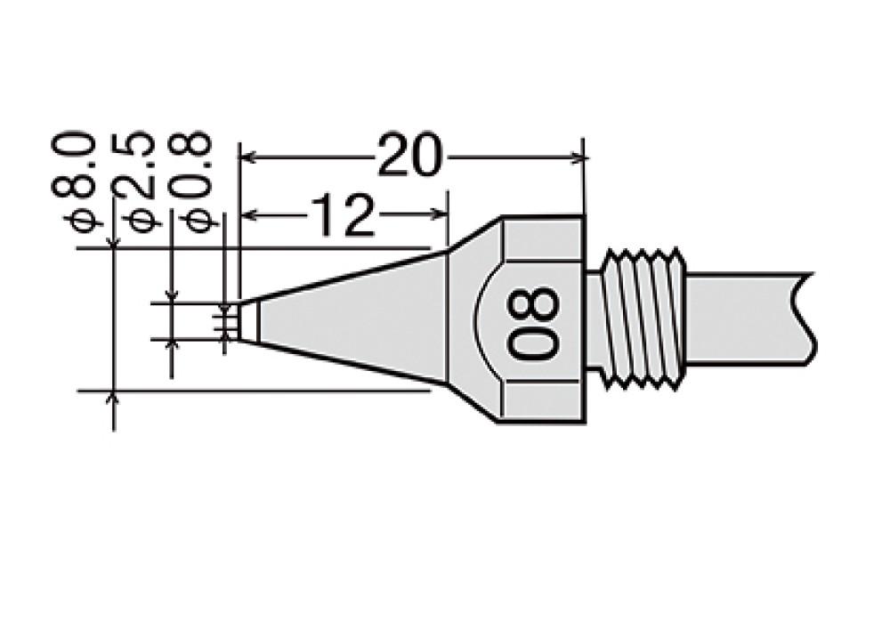 GOOT NOZZLE TP-100N-08 TP200 - 0.8mm