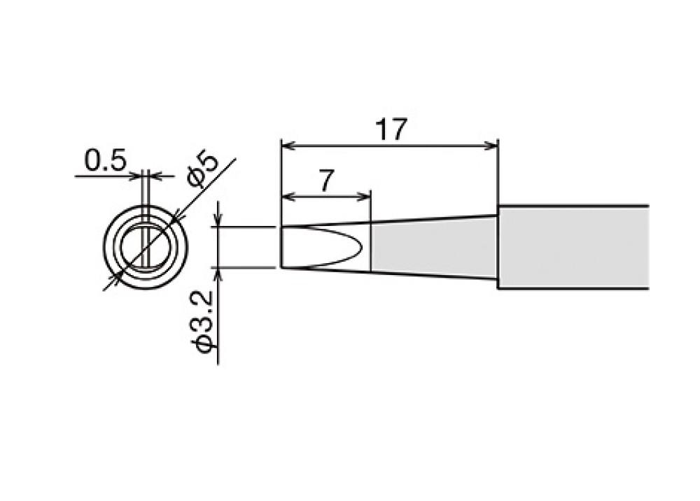 GOOT TIP PX-60RT-3.2D 3.2mm