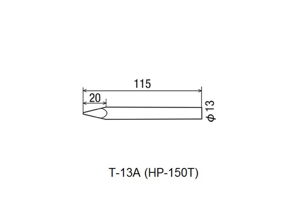 GOOT SOLDERING IRON TIP T-13A HP-150T 150W