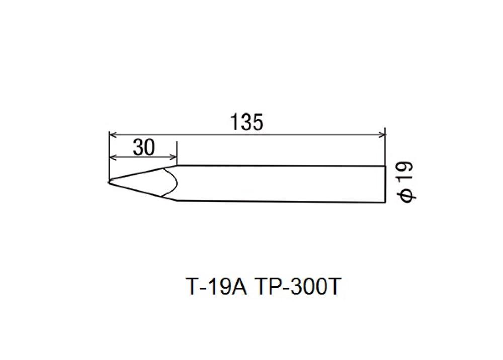 GOOT HI POWER SOLDERING IRON TIP HP-300T T-19A 300W