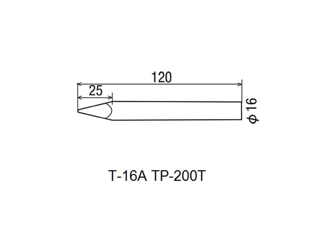 GOOT SOLDERING IRONS TIP HP-200T T-16A