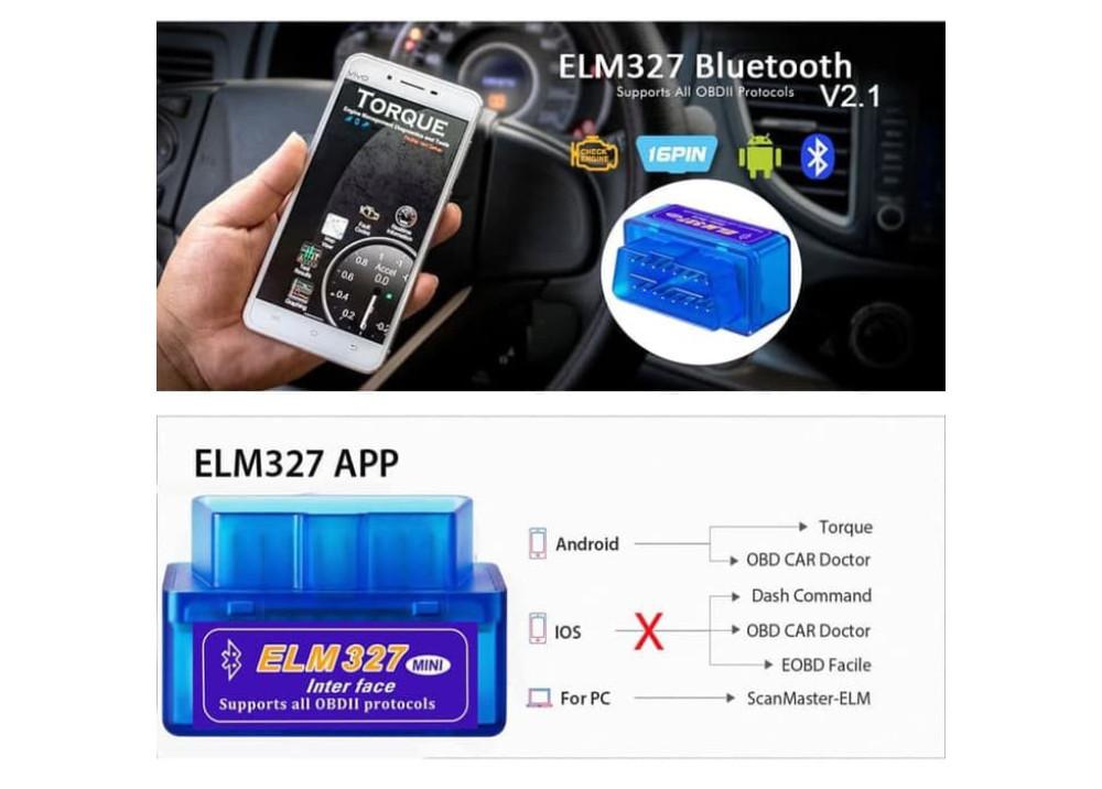 Bluetooth ELM327 Interface OBDII OBD2 Diagnostic Auto Car Scanner Scan Tool