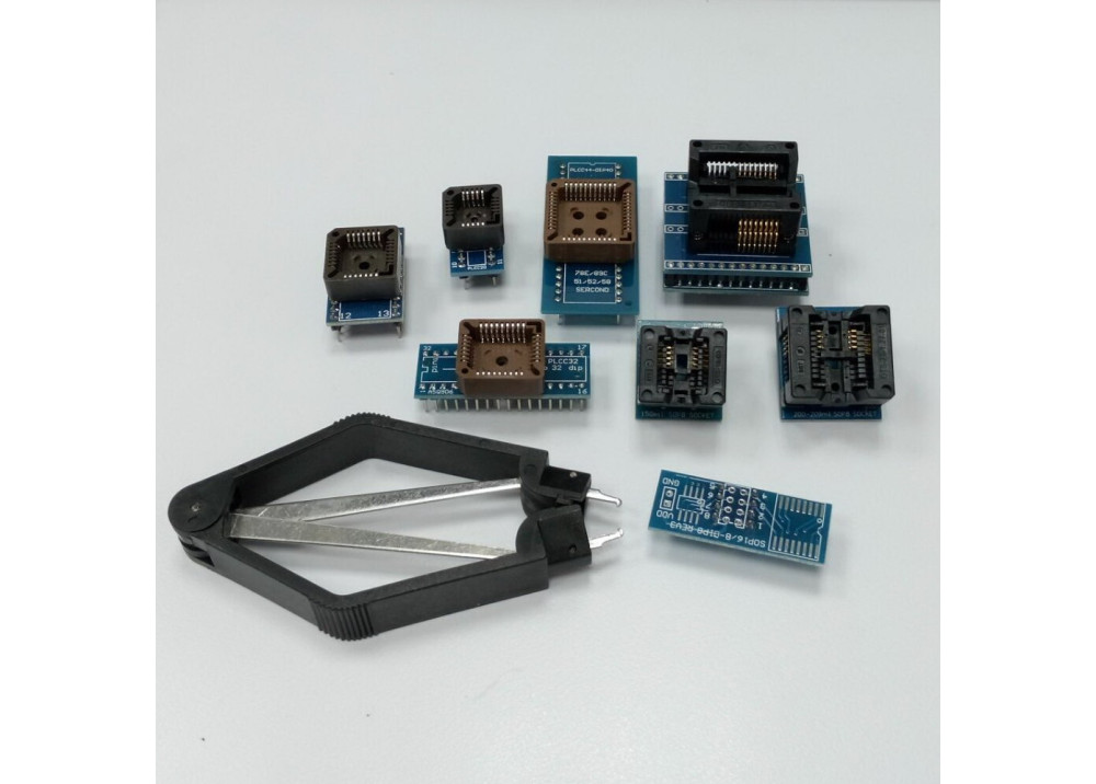 8 Programer Adapters Sockets Kit for TL866CS TL866A EZP2010 with IC ExtractorUPA USB programer with Full Adapters