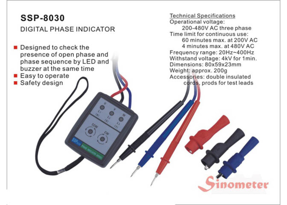 SINOMETER DIGITAL PHASE INDICATOR