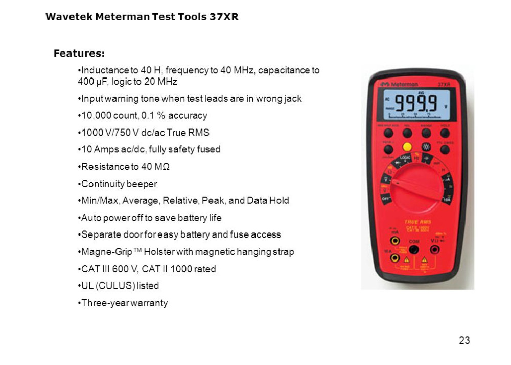 Wavetek Meterman 37XR Digital True RMS