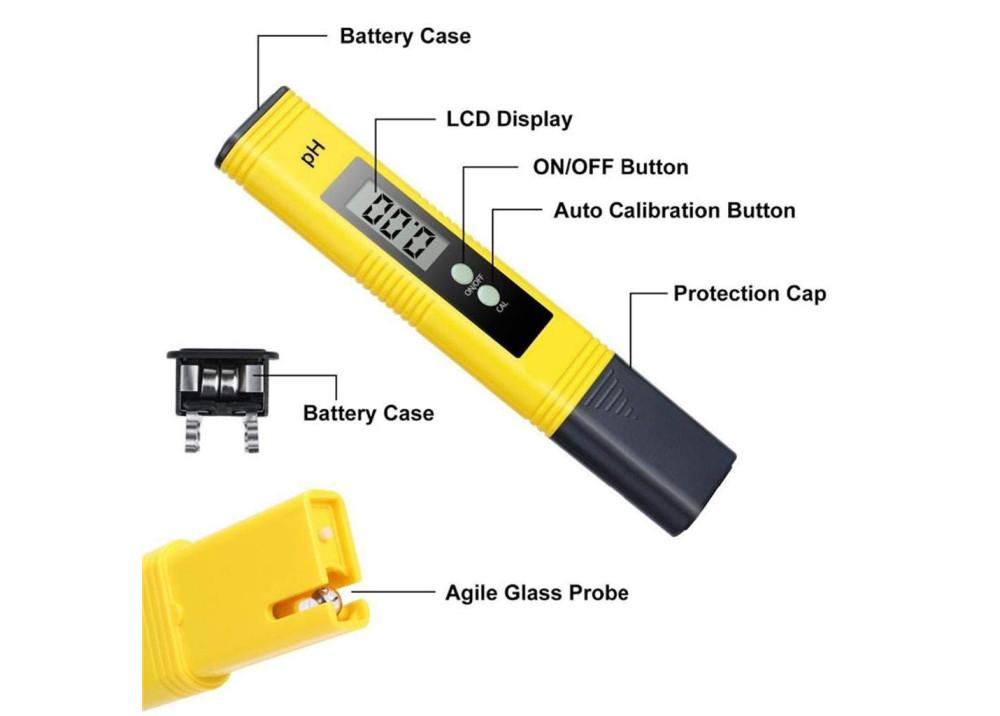 Digital Pocket Pen type Water PH Meter & Thermometer PH-009
