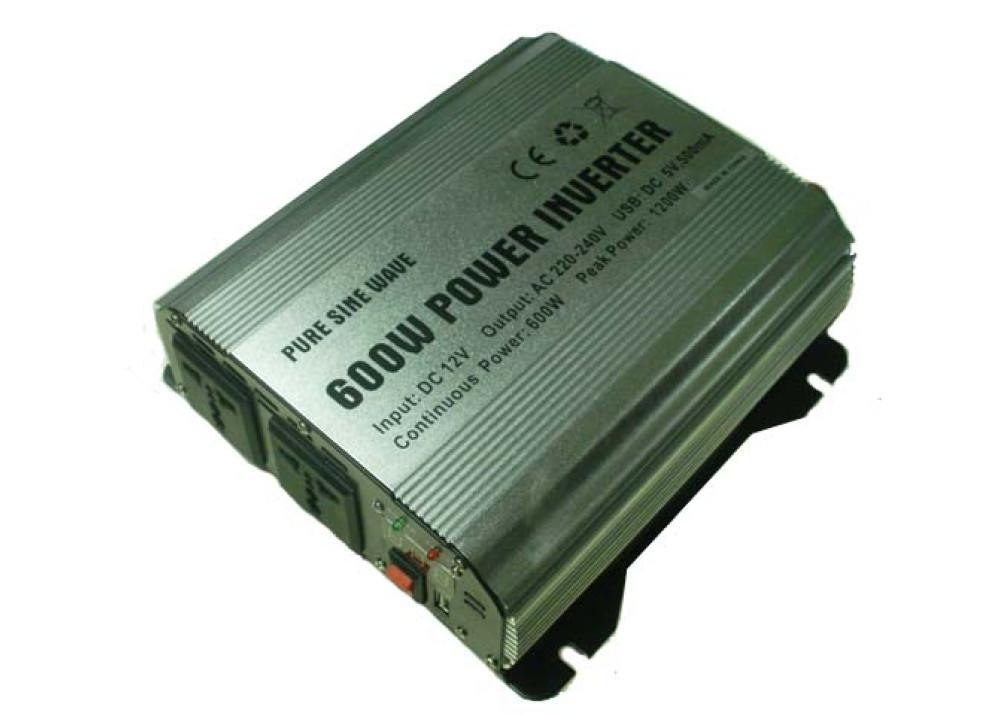 NVERTER  DC12V~AC220V 600W USB DC5V500ma