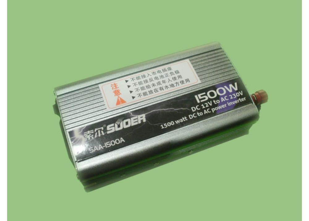 INVERTER SUOER SAA-1500A DC12V AC220V 1500W