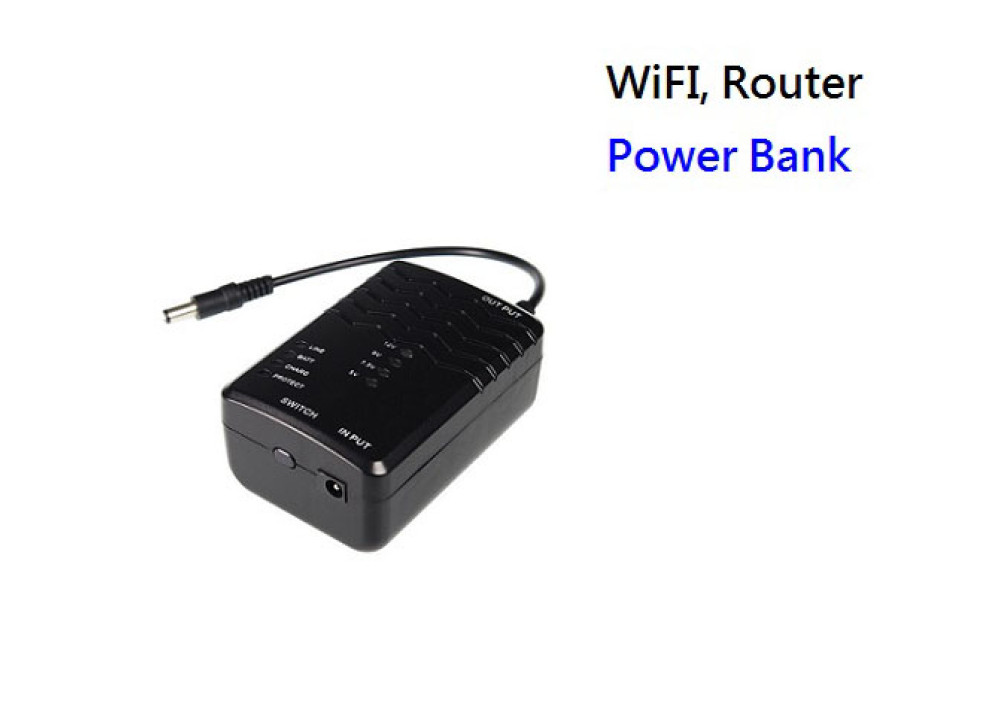 Power Bank-DC3 UPS 3.7V 4400mAH for WiFi Router