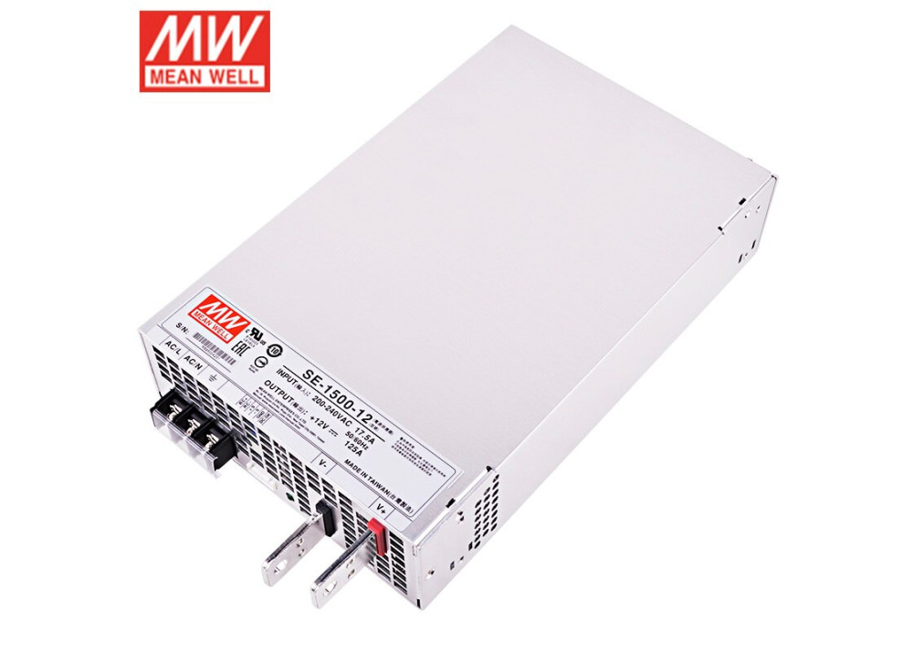 Switching Power Supply SMPS SE-1500-12 MEAN WELL 12V 125A 1500W
