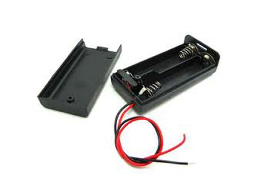 BATTERY CASE WITH COVER & SWITCH  2XAA