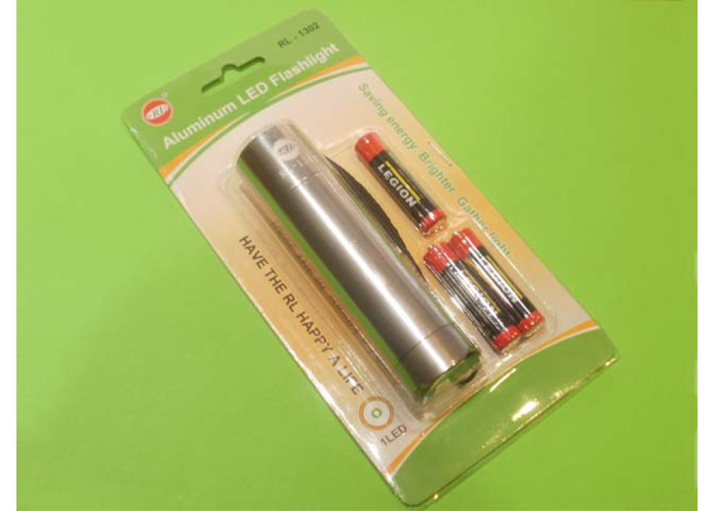Aluminum LED Flashlight RL-1302 3xAAA