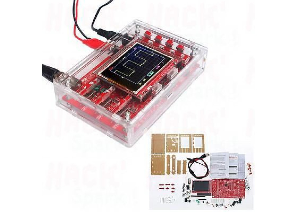 DIY DSO138 Digital Oscilloscope 200KHZ SMD Soldered + Acrylic DIY CASE Cover Shell for DSO138