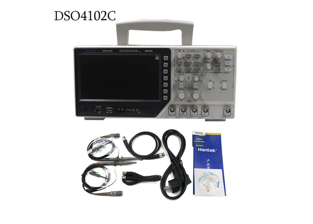 DSO4102C Hantek 100MHZ Oscilloscope 2CHs With 1CH Arbitrary/Function Waveform Generator