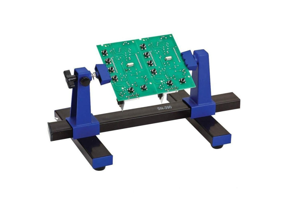 Pro sKit SN-390  Adjustable Printed Circuit Board Holder Frame PCB Soldering and Assembly Stand Clamp Repair Tool 360 Degree Rotation