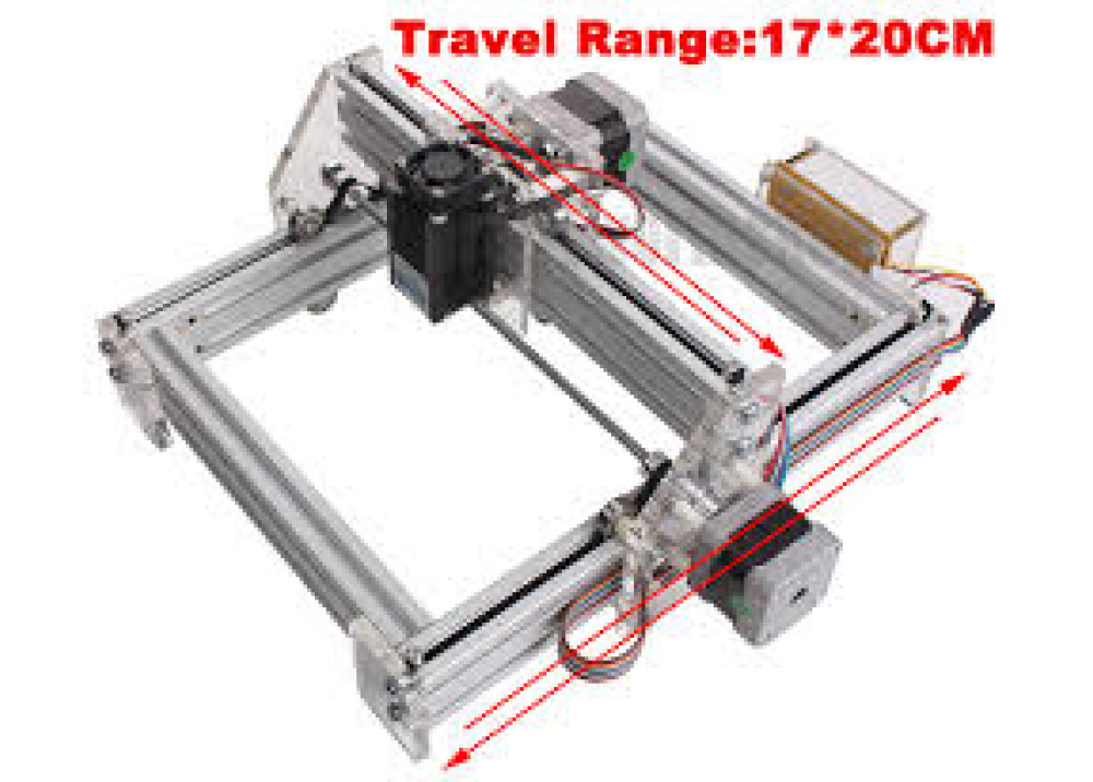 Desktop DIY Violet Laser Engraving Machine 500mw 17 * 20CM