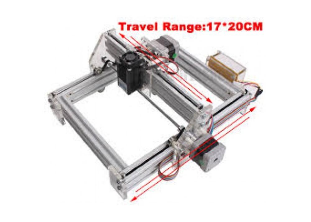 Desktop DIY Violet Laser Engraving Machine 2500mw 17 * 20CM