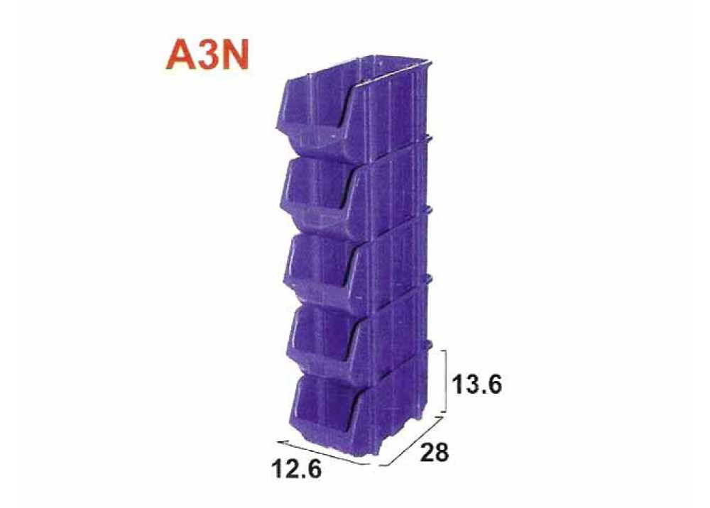 Plastic Container A3N 280x126x136mm