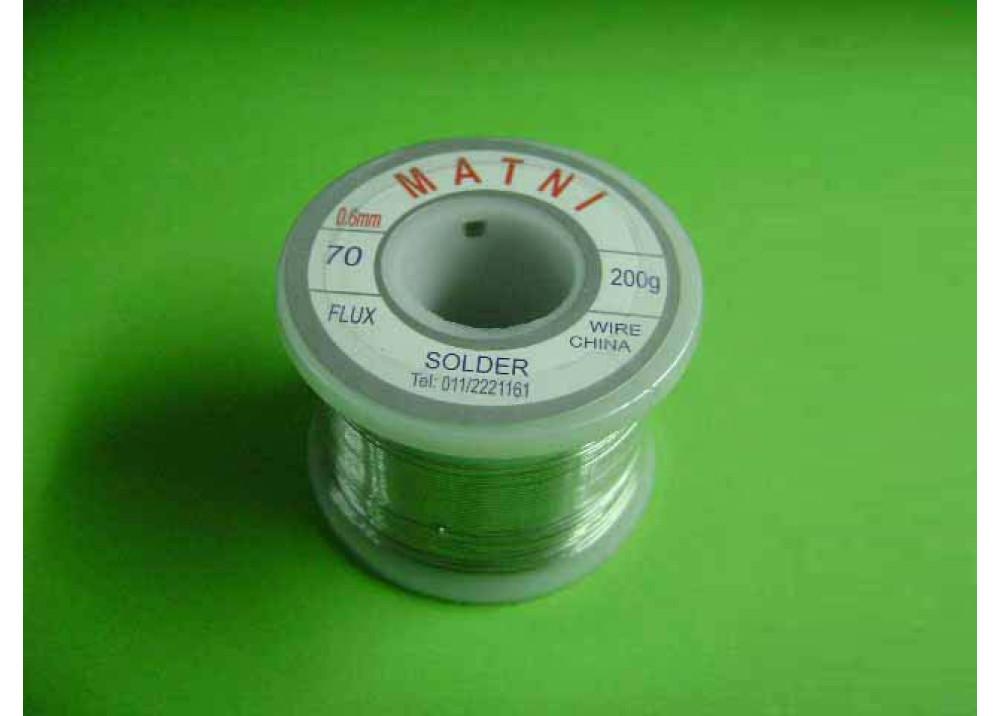 SOLDER 0.6mm 70% 200G