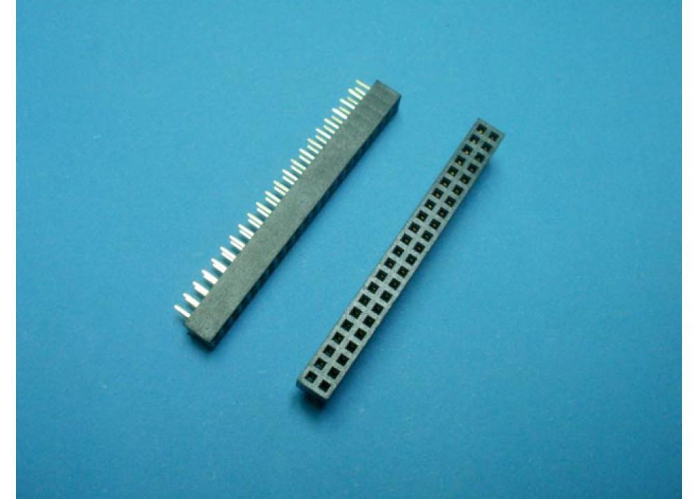 Female Pin Header Dual Row FHDS2X20P 2mm