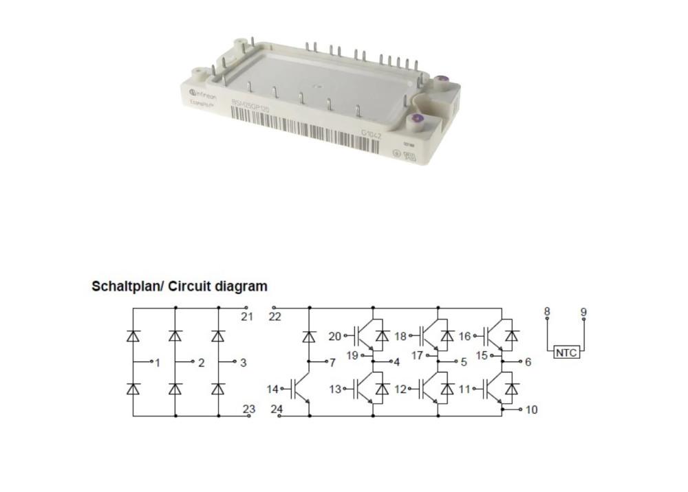 BSM25GP120 IGBT Module 25A 1200V