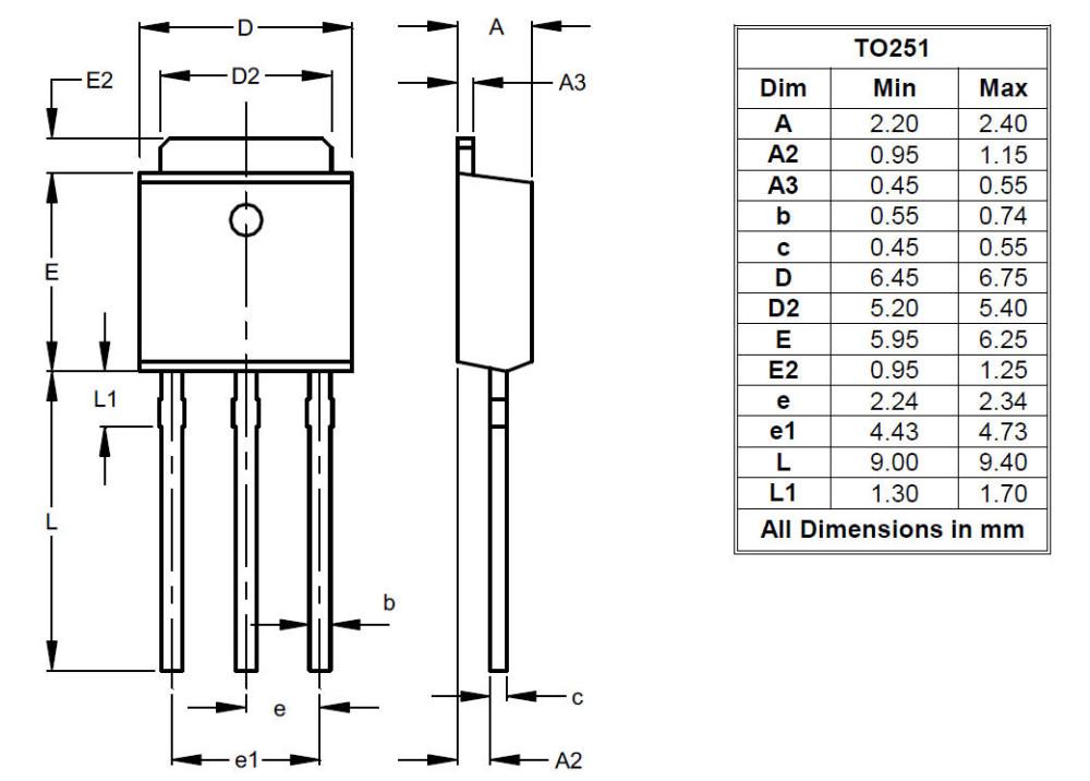 TRIAC T405-600H 4A 600V TO-251