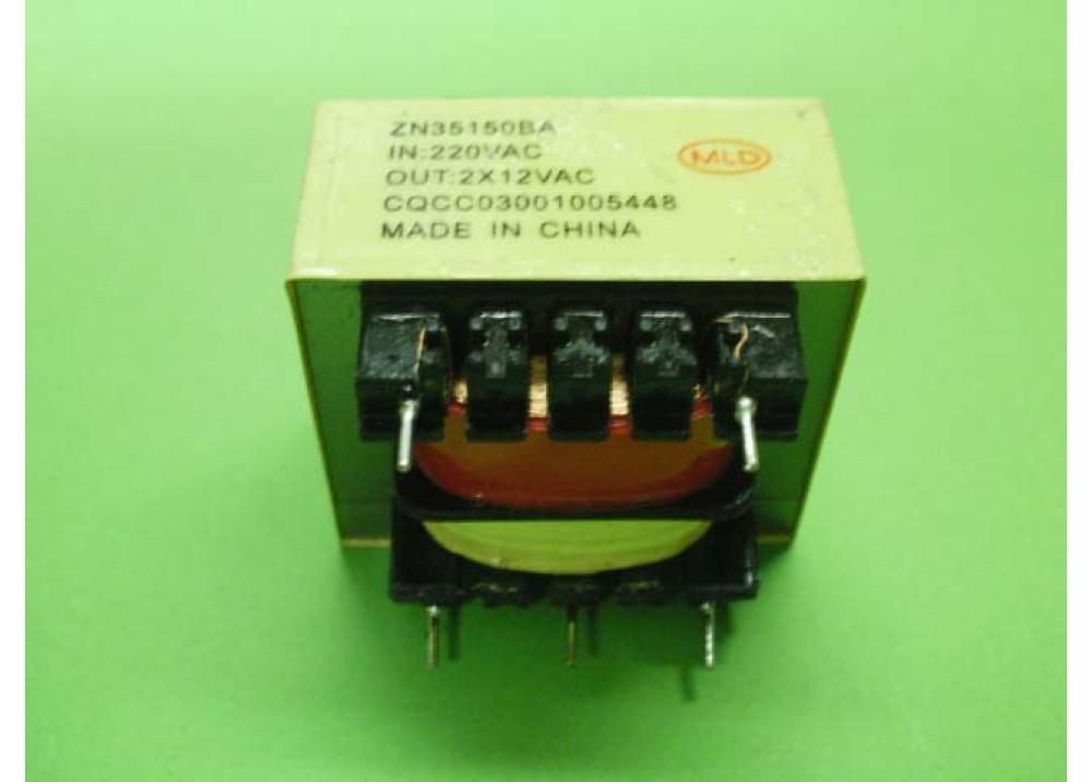 TRANSFORMER 2.5VA 12VX2 200MA PCB