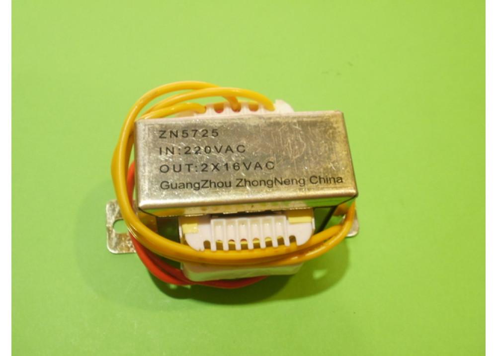 TRANSFORMER 1.5A 2X16V