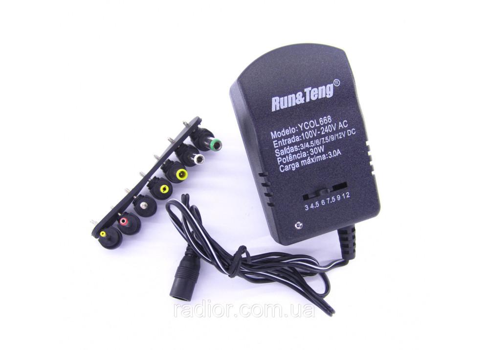 Adapter 3A Universal power supply unit Ran-Teng DC 3-12v 3.0A (7 connectors)