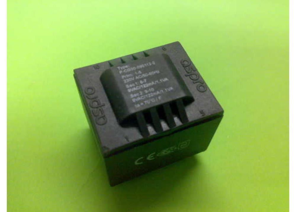 PCB TRANSFORMER 9VX2 2.2VA 244mA
