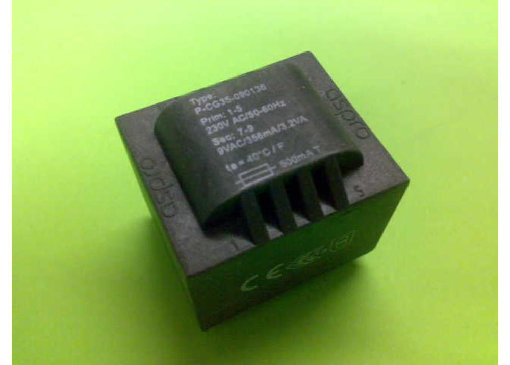 PCB TRANSFORMER 9VX1 3.2VA 356mA