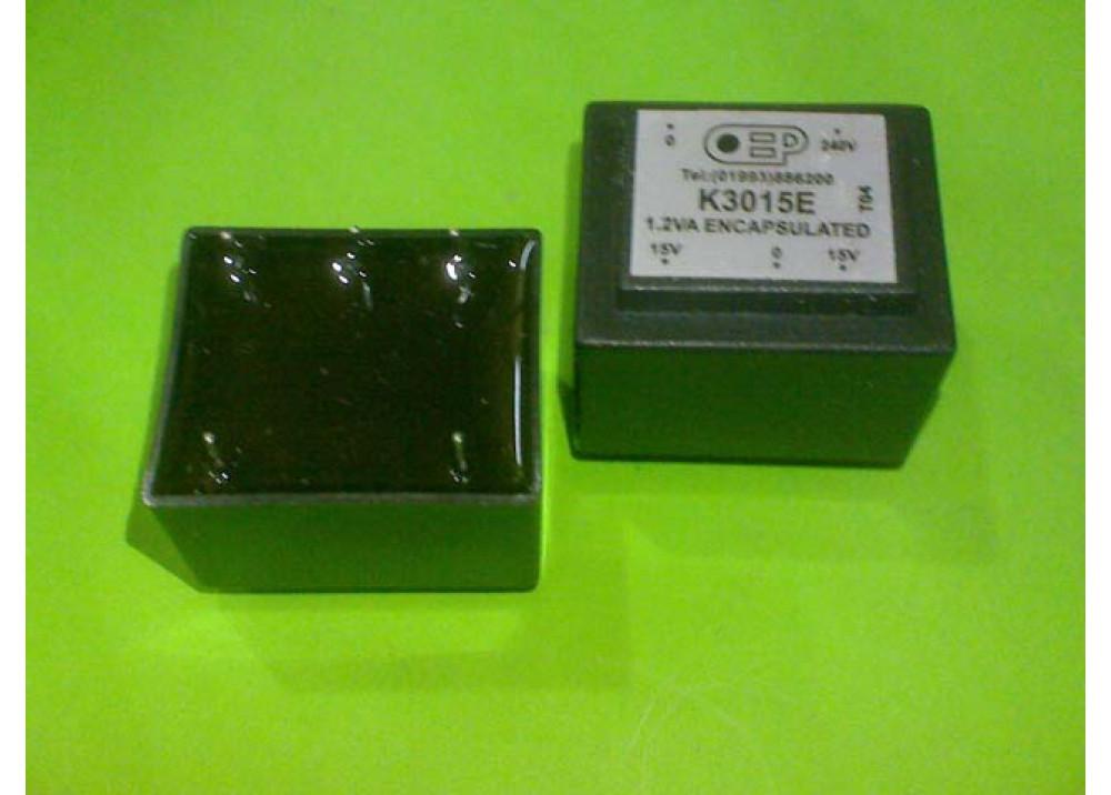 PCB TRANSFORMER 15VX2 1.2VA 80mA