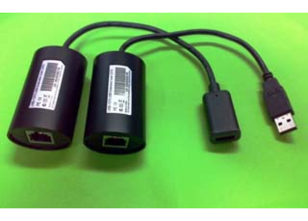 R-USB-1370 USB over Cat5 Extension Cable RJ45 Adapter M/F
