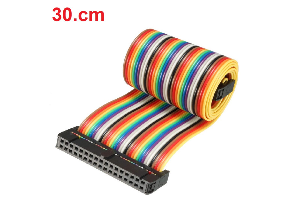 IDE IDC Extension Flat Cable Color 22cm FF 34P 2.54mm for Arduino