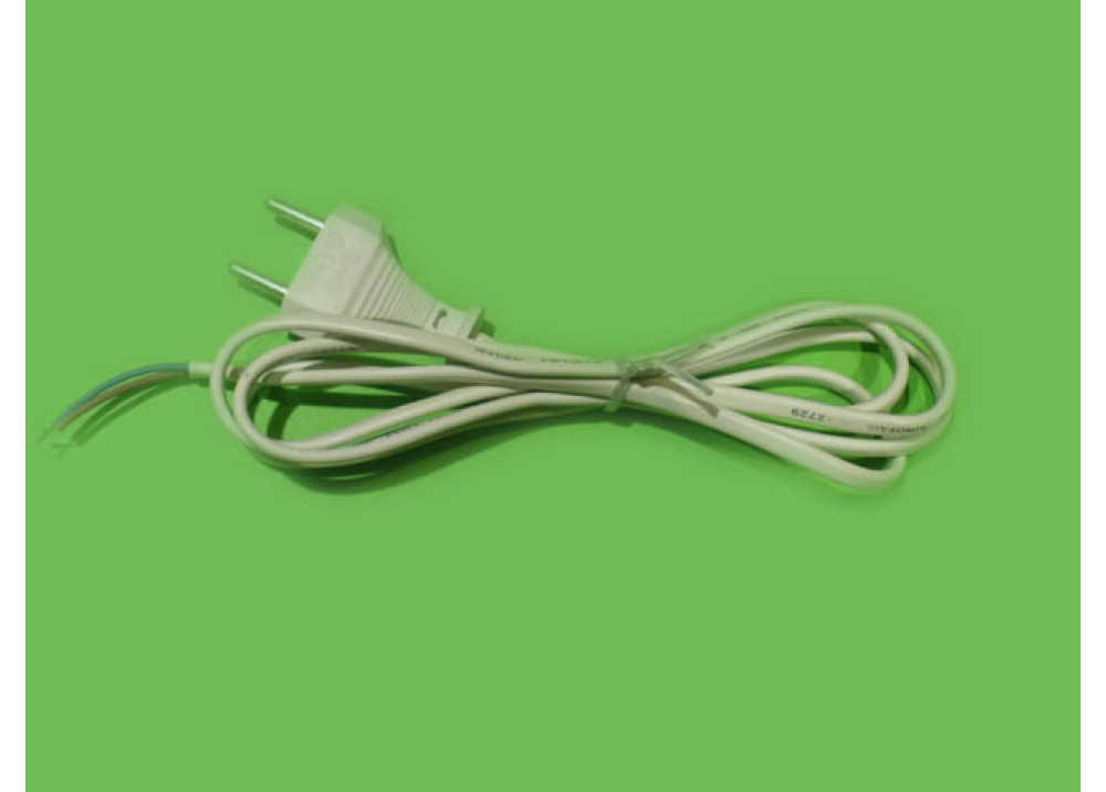 AC Power Cord 2X0.75MM 1.25M WHITE