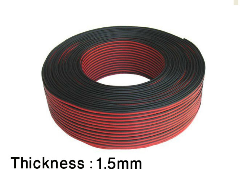 CABLE POWER BLACK&RED 1.5mm
