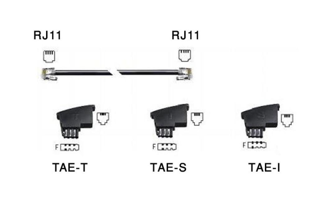 TELEPHONE RJ11 M TO TAEx3 M PLUG 6M