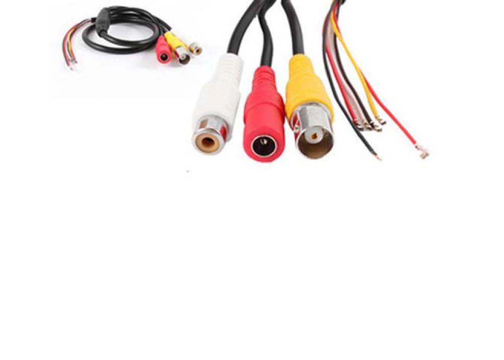 RCA BNC DC Female Plug Video Audio Cable Black