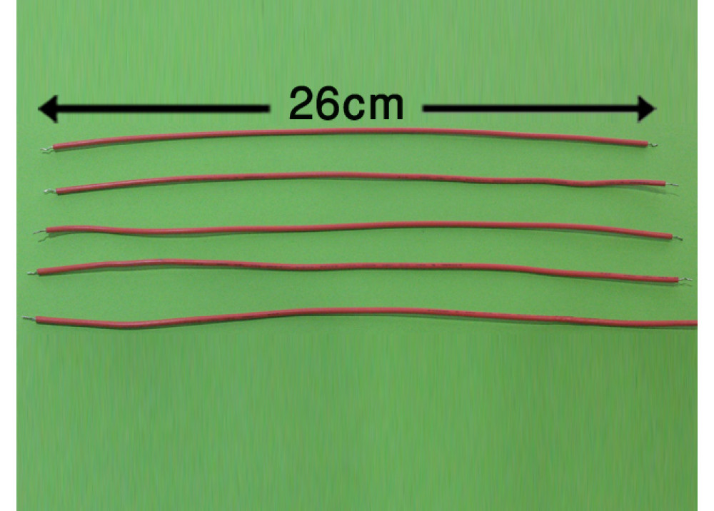 WIRE 26cm 2mm RED