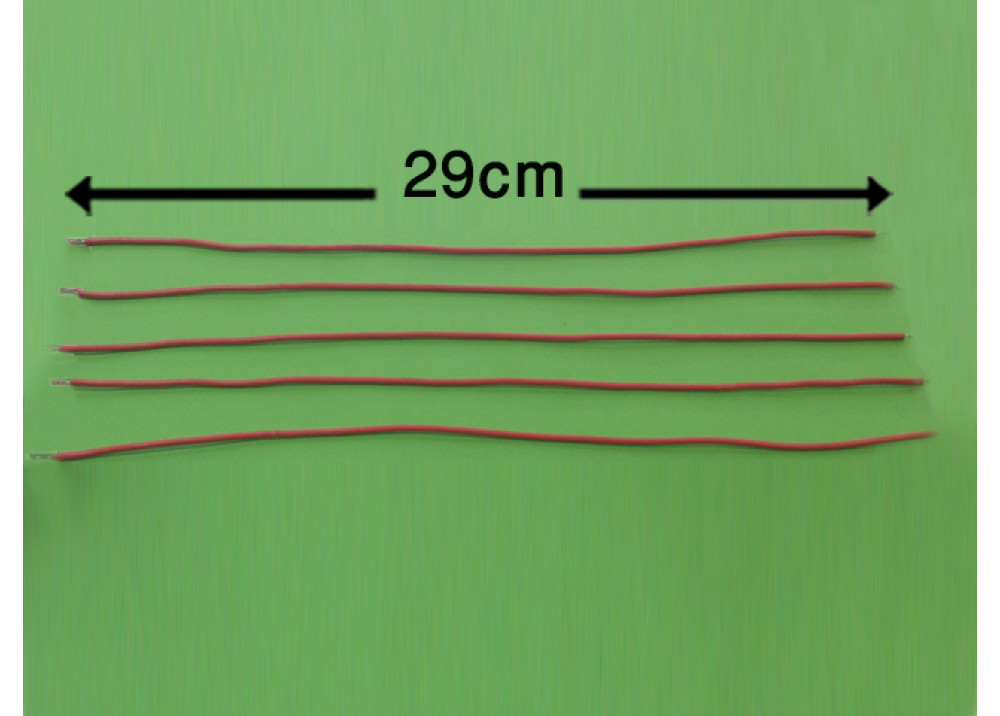 WIRE 29cm 2mm RED