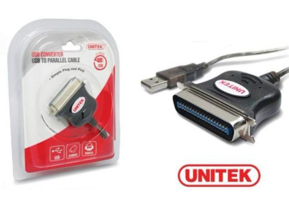 UNITEK Y-120  ADP USB to Parallel  LPT 36P